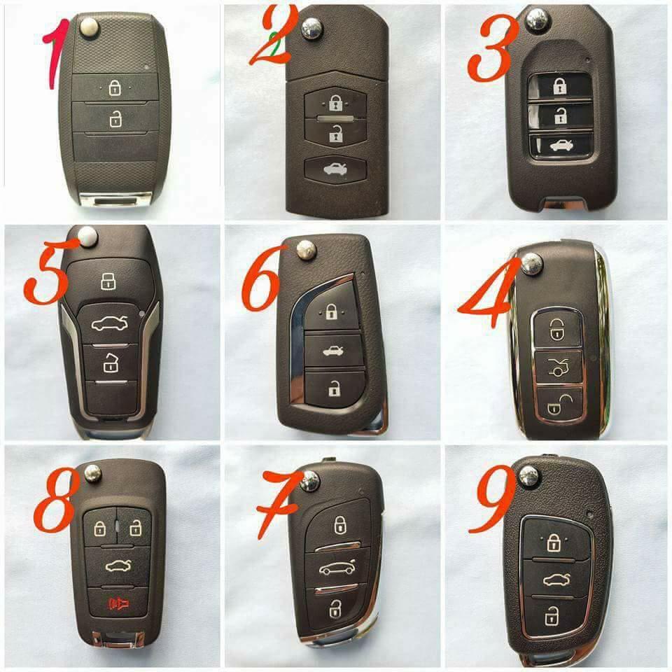 Chìa khóa ô tô liền điều khiển từ xa
