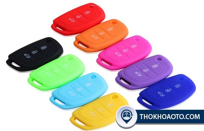 Bọc chìa khóa ô tô silicon nhiều màu