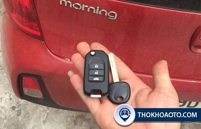 Độ gập chìa khóa Kia - Morning