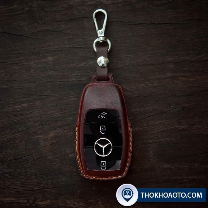 Bao da chìa khóa thông minh Mercedec mẫu mới